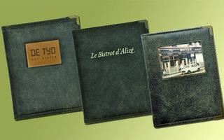 Couvertures à menu en cuir traité