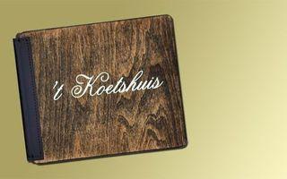 Couvertures à menu en bois