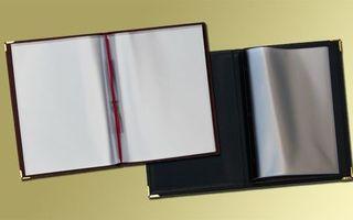 Couvertures à menu en similicuir