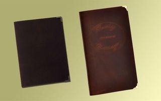 Couvertures à menu en cuir